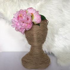 Large Candy Pink Peony Bloom Floral Wreath / Artificial Hair Flowers / Bride / Fake Flower / Silk Fascinate Boho Side Cluster Crown by FauxFloralCo on Etsy https://www.etsy.com/au/listing/482283137/large-candy-pink-peony-bloom-floral