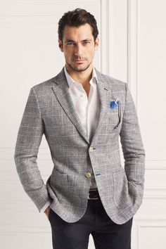 Smart Casual l David Gandy Now this guy would have been much better suited (pardon the pun) to be Christian Grey, and I hope he is not gay. Nothing wrong with that, but he is just right.