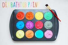 DIY bathtub paint for some easy fun in the tub for little kids!