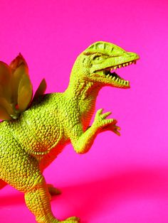 Green Dinosaur Planter Great for Office Desk or Bedroom Ready to Plant Great for Small Succulents or Cacti