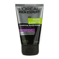 Loreal Men Expert Pure and Matte Charcoal Black Scrub 100ml >>> This is an Amazon Affiliate link. Be sure to check out this awesome product.