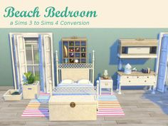 Leander Belgraves - Bedroom Beach a Sims 3 Sims to 4 Conversion with ...