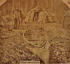 Ojibwe group near Lake Superior - 1860