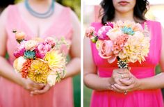Incredible pink flowers at Oregon outdoor wedding photographed by Ann-Kathrin Koch www.annkathrinkoch.com