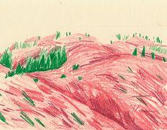 Illustration on Behance Drawing Sketches, Pencil Drawings, Art Drawings, Landscape Illustration, Pencil Illustration, Typography Sketch, Photoshop, Art Sketchbook, Art Inspo