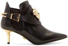 Versace - Black Medusa Ankle Boots