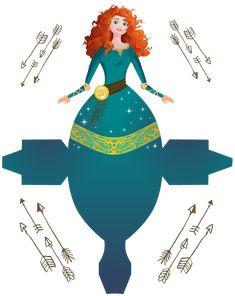 Merida - Brave - Disney Princess - Free Printable Disney Princess Box