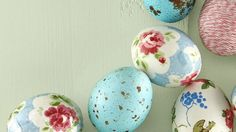 9 Easter Egg Decoration Ideas: Plain old dye? Been there, dipped that. Hatch a new decorating scheme with these just-as-easy ideas for decorating with and dressing up Easter eggs.