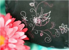 The Izzy Purse in Black with Shades of pink by MelsMarvelousDesign, $33.00