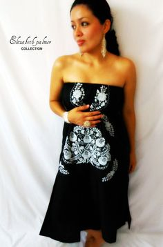 noches de luna mexican embroidered dress by elizabethpalmer, $188.00