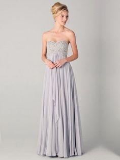 A-line Sweetheart Chiffon Floor-length Pleats Prom Dresses at Dresseshop