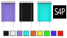 Sims 4 Pose: Mika Blinds Solids {Curtains} Download