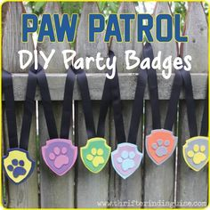 Favors for Paw Patrol Birthday Party