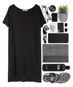 """""""Concrete"""" by vv0lf ❤ liked on Polyvore featuring T By Alexander Wang, Monki, ASOS, Aesop, Incase, Lux-Art Silks, Pantone, D.L. & Co., Urbanears and Holga"""