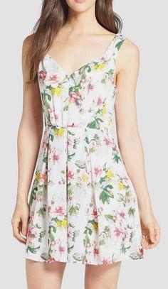 Nordstrom  Joie 'Haliah' Floral Print Silk Dress