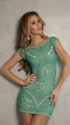 MEITAL DRESS IN JADE - SHORT DRESSES