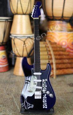 Miniature Replica Guitar - Michael Jackson