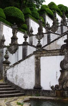 The sanctuary of Bom Jesus is a short 5 km drive north east of the town Braga in Portugal