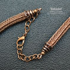 Wire wrap necklace Viking Knit copper от vorobev на Etsy