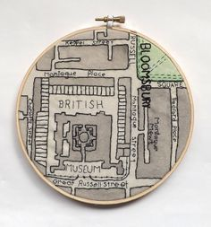 British Museum Vintage London Map Embroidery £20.00