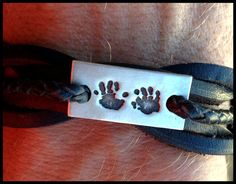 Men's Bracelet and Silver Foot /handprint by BareHandsJewellery, $85.00