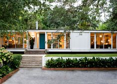 Angie Hranowsky Lakeshore mid century modern home exterior