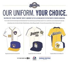 Help choose a uniform for a 2013 Brewers Spring Training game! Vote now through 1/22!