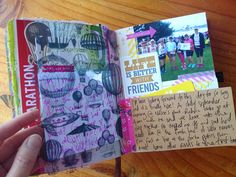 Art journalling: my first half marathon Navel Gazing, One Half, Aspergers, Self Discovery, Journalling, Marathon, My Arts, Crafty, Running
