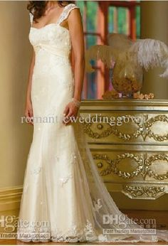 Wholesale Beach IVory Lace Wedding Dress/Bride Dress/romanticweddinggown (any size/color) 1052, Free shipping, $135.52/Piece | DHgate