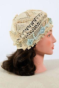 1920's crochet hat