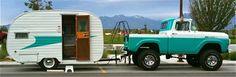 Retro Camping Style, oh yeah! Retro Camping, Camping Style, Camping Glamping, Camping Ideas, Custom Trailers, Vintage Campers Trailers, Camper Trailers, Pickup Camper, Shasta Camper