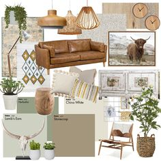 Modern Rustic Boho Living Room Mood Board View this Interior Design Mood Board and more designs by AlainaPhillippi on Style Sourcebook Boho Living Room, Interior Design Living Room, Living Room Designs, Living Room Decor, Interior Design Mood Boards, Living Room Lighting Design, Living Room Colors, Interior Modern, Kitchen Interior