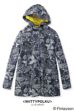 フィンレイソン やさしい着心地のキルティングジャケット NIITTYPOLKU ニッティポルク |フェリシモ Raincoat, Entry Wall, Fabric, Jackets, Shopping, Design, Style, Fashion, Rain Jacket