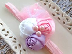 Girls Adjustable Headbands,Baby Headbands,Newborn Headbands,Hair Accessory, Adjustable Headbands,Flower Headbands,Special Occasion Headbands by CLBBoutique on Etsy
