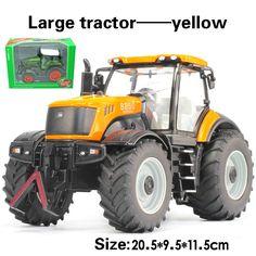 Tractor excavadora de juguete coche de ingeniería de aleación modelo de vehículo agrícola cinturón niño modelo de coche de juguete para niños regalos del Día