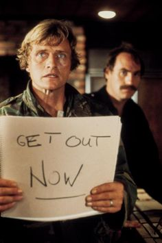 """Rutger Hauer, Craig T. Nelson in """"The Osterman Weekend"""" (1983). Director: Sam Peckinpah."""