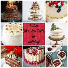 This is a collection of 17 Festive Cakes And Tortes For The Holidays. Great opportunity to bake delicious recipes for Christmas and New Years Eve parties. Christmas And New Year, Celebrating Christmas, New Years Eve Party, Yummy Food, Delicious Recipes, Vanilla Cake, Cheesecake, Baking, Recipe Collections