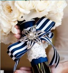 nautical wedding bouquet - I know it's not wine or cheese, but posting here for a friend :)