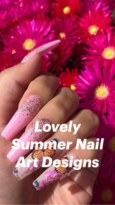 Cute Pink Nails, Pink Gel Nails, Pink Nail Art, Polygel Nails, Toenails, Manicures, Acrylic Nail Designs, Nail Art Designs, Acrylic Nails
