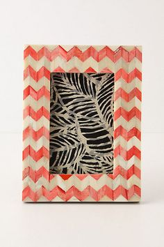 Chevron Frame #anthropologie  i could certainly make this myself for a fraction of the cost! #christmasgifts #homedecor
