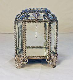 Wedding Keepsake Box -  Faberge Style - Jewelry Display Box