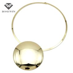 Unique Design Collar Choker Necklace Women Accessories Charm Torque Big Metal Circle Pendants Statement Jewelry CE4002 Love it?Visit us: www.rumjewelry.co... #shop #beauty #Woman's fashion #Products #homemade