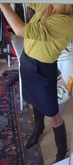 Fall fashion - that skirt - bought it in 1982 - that is, 35 years ago. Some classics never go out of style.