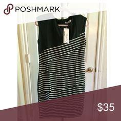 Makiyo Black and White Striped Dress Makiyo Black and White Striped Dress Makiyo Dresses Midi