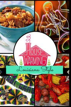 Louisiana Themed House Warming Party - http://atmospheremovers.com/louisiana-themed-house-warming-party/