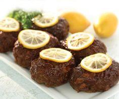 Saltscapes Food & Drink - Lemon Barbecued Meat Loaves by Erna Corbeil - www.saltscapes.com