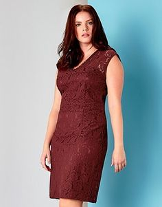 c48428fbd00f Womens burgundy juna rose lace bodycon dress from Lipsy - £40 at  ClothingByColour.com