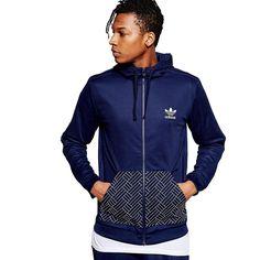adidas Originals Mens Budo Hoody Full Zip Hoodie Sweater Jumper Top Navy | eBay