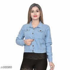 Jackets Stylish Denim Women's Jacket Fabric: Denim Sizes:  S (Bust Size: 34 in Length Size: 27 in)  XL (Bust Size: 40 in Length Size: 31 in)  L (Bust Size: 38 in Length Size: 29 in)  M (Bust Size: 36 in Length Size: 25 in) Country of Origin: India Sizes Available: S, M, L, XL   Catalog Rating: ★3.9 (447)  Catalog Name: Free Mask Urbane Fashionista Women Jackets & Waistcoat CatalogID_1668717 C79-SC1023 Code: 113-9483269-027