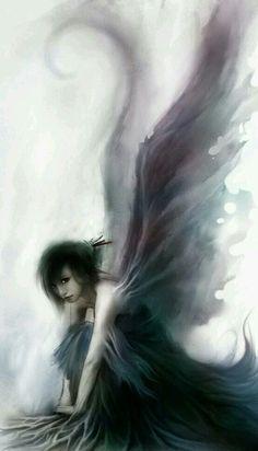 35 New Ideas For Fantasy Art Girl Beauty Dark Angels Fairy Dust, Fairy Land, Sad Fairy, Magic Fairy, Love Fairy, Magical Creatures, Fantasy Creatures, Fantasy Kunst, Fantasy Art